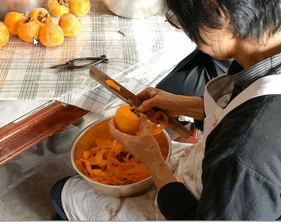 柿の皮むき